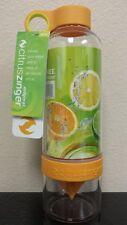 Zing Anything Citrus Zinger Juicer Infuser,Orange BPA-Free Water Bottle