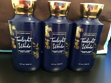 LOT OF 3 BATH AND BODY WORKS TWILIGHT WOODS BODY LOTION 8OZ EACH