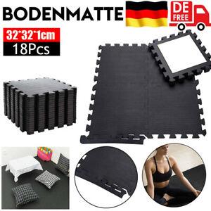 18 x Bodenschutz Matte Schutzmatten Set Fitness Unterlegmatte Puzzlematte EVA