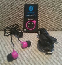Reproductor MP3/MP4 Bluetooth, Lenco XEMIO - 767 memoria 8 GB (ampliable), Negro Y Rosa