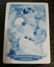 2013 Bowman Chrome #91 Will Middlebrooks Cyan printing plate 1/1