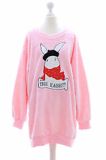 TS-10-1 rosa Hase Rabbit Bunny Lolita Goth Pullover Sweatshirt flauschig Japan