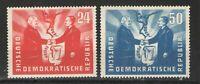 Germany - GDR/DDR 1951 Sc# 80-81 MH/HR VG/F - Oder-Niesse set