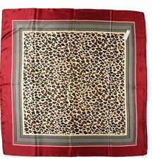 Leopard Animal Print Big Silk Like Satin Hair Scarf Headdress Head Scarf 90*90cm