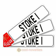 "MINI NOVELTY NUMBER PLATE / BOOKMARK GIFT "" STOKE 1 "" PERFECT FOR FOOTBALL FANS"