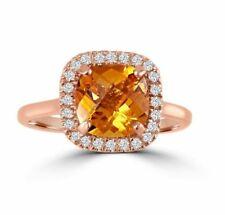 1.85ct 14k Rose Gold Diamond Pave Ring