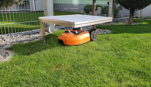 Mähroboter Worx Landroid  Überdachung Garage