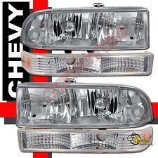 98 99 00 01 02 03 04 Chevy S10 Pickup / Blazer HeadLights + Bumper Signal Lights