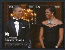 Tuvalu 2013 MNH US Presidents Barack Obama Buckingham Palace 1v S/S II Stamps