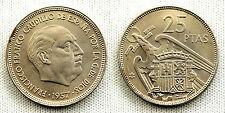 ESTADO ESPAÑOL 25 PESETAS 1957*66 UNC/S/C/FDC COLOR Y BRILLO ORIGINAL