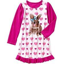 Komar Kids Girls Long Sleeve Rabbit Sleep Gown Size 6-6X