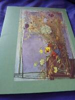 """menu paquebot """"FRANCE """" ,1965, """"MAC AVOY , fleurs et fruits de france"""" ,  C.G.T-"""