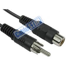 10m RCA Phono AV Audio Video EXTENSION Cable Male Plug - Female Socket CCTV Lead