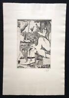 Pit Morell, Karlchen, Radierung, 1955, handsigniert und datiert