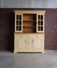 Farmhouse Hutch ~ China Cabinet ~ Pine Hutch ~ French Farmhouse Cabinet