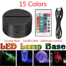 ABS Acrylic Black 3W DC5V LED Lamp Night Light Base + USB Cable + Remote control