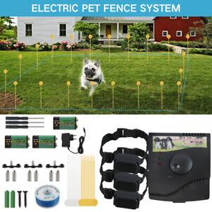 Underground 1/2/3 Dog Shock Collar Electric Pet Fence Fencing System Kit 300M