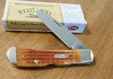 CASE XX New Harvest Orange Jigged Bone Single Blade Tribal Lock Knife/Knives