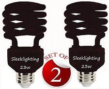 SleekLighting 23W Black Spiral Bug CFL Light Bulb 120Volt, E26 Medium Base 2pack