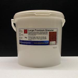 3 KG ZM LARGE PREMIUM GRANULAR fish food discus tilapia carp aquaponics