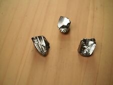 3 x SHUNGITE qualità ELITE MINERALE naturale PIETRA grezza lotto kit 3 pezzi