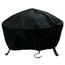 Sunnydaze Durable Weather-Resistant Round Fire Pit Cover - Black - 36-Inch