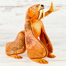 A1315 Bear Alebrije Oaxacan Wood Carving Painting Handcrafted Folk Art Mexi