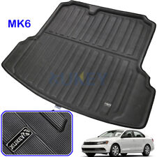 Rear Trunk Mat For VW Jetta Mk6 Sedan 12-18 Boot Cargo Liner Floor Tray Carpet
