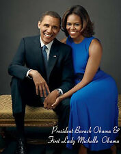 "President Obama & First lady Michelle"" Personal Size - MINI - Poster (12"" x 10"")"