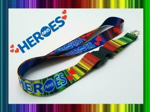 Key Workers Heroes Lanyard Rainbow Neck Strap for Keys ID Card Holder 20mm 52cm