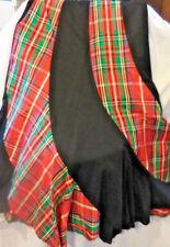 0a9b235ba Maxi Skirt SWIRL RED PLAID TAFFETA Black Bunny Label 7 8 Vintage