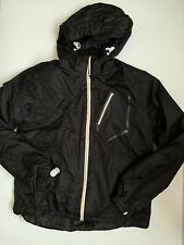 Iceburg Ski Snowboard Jacket Snow Skirt Removable Hood Black Media Pocket S Euc