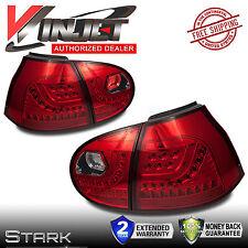 06-09 MK5 GOLF GTI RABBIT LED Tail Lights Chrome Red VW Rear Lamp x2
