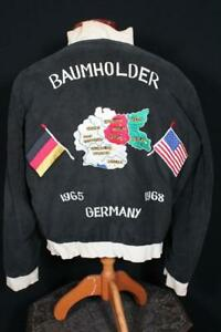 COLLECTOR'S VINTAGE 1965-1968 GERMANY EMBROIDERED SOUVENIR JACKET SIZE XL