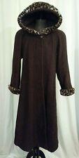 Braefair Womens Brown Cloak Hood Vintage Full Length Sz S CosPlay Costume Coat