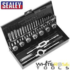 Sealey Ak3015hss Tap & Die set 32pc Split Dies HSS 4341 - Metric
