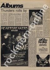 Johnnny Thunders Heartbreakers Siouxsie Banshees Liverpool LP Tour Advert 1977