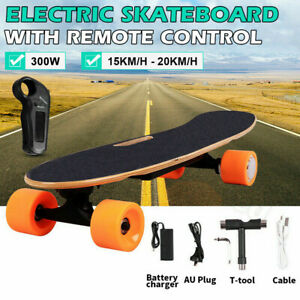 Kids Adult Electric Skateboard Power Motor with Remote Cruiser Maple Long Board