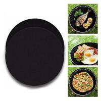 Extra Thick Round Baking Sheet Mat Oven Pastry Tray Liner Nonstick Tray-Sil N5A6
