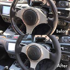 Lancer EVO 7/8/9 VIII IX   Steering Wheel Wrap NuBuck Leather (velvet like feel)