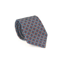 George Polyester Blue Red Pattern Wide Fit Tie