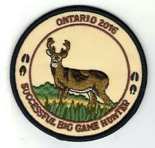 2016 ONTARIO MNR BIG GAME HUNTER PATCH-MICHIGAN DNR DEER-BEAR-MOOSE-ELK-CREST