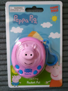 BRAND NEW PEPPA PIG TALKING 3D POCKET PALS ELECTRONIC TOY WITH BAG CLIP 3+ UTOYS