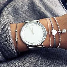 Adjustable Multilayer Simple Bangle Heart Arrow Crystal Bracelets Women Jewelry