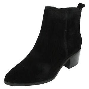 Damen Leather Collection Blockabsatz Wildleder Leather Stiefeletten F5R1126