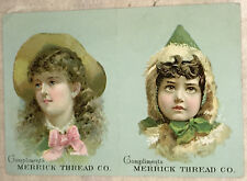 Victorian Color Trade Card: Excellent Calendar for 1893 from Merrick Thread Co.