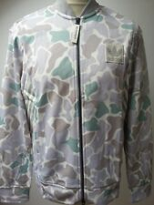 NEW ADIDAS CAMO SUPERSTAR TRACK TOP JACKET WOVEN JACKET WHITE CREAM