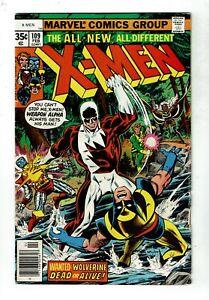 Uncanny X-Men #109, VG 4.0, 1st Vindicator/James Hudson