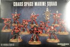 Warhammer 40,000 Chaos Space Marine Squad X10 BRAND NEW carton