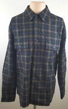 WOOLRICH Woolen Mills Mens Multi Color Checkered Flannel Casual Shirt Sz Medium